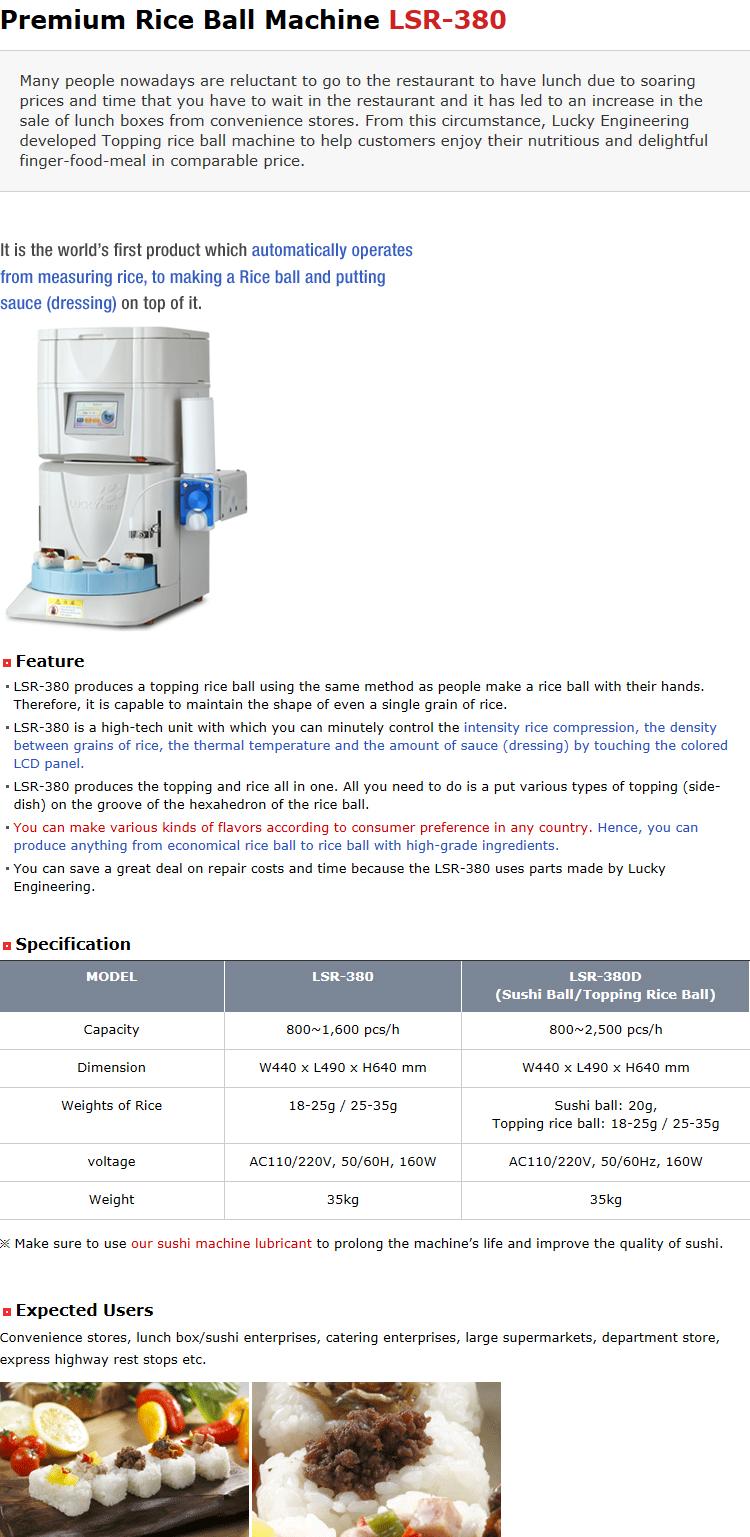 Lucky Engineering Premium Rice Ball Machine LSR-380