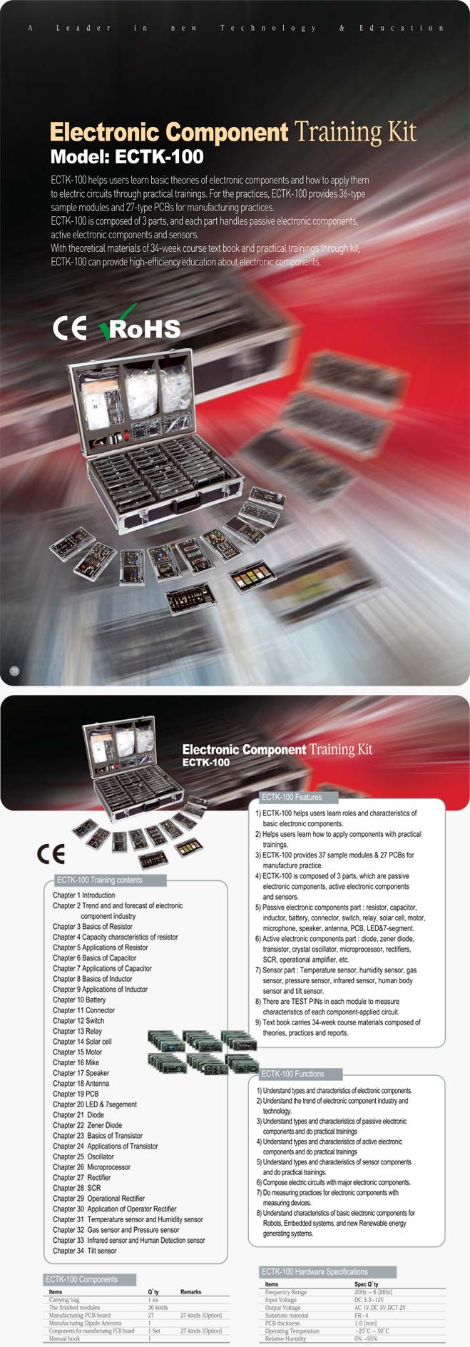Man & Tel Electronic Component Training Kit ECTK-1000