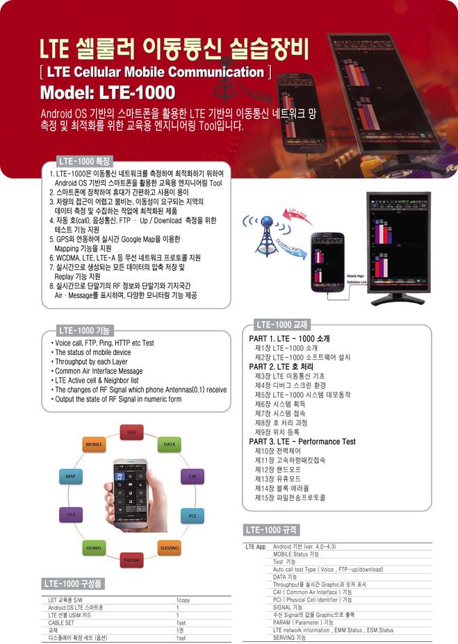 (주)맨엔텔 LTE 셀룰러 이동통신 실습장비 LTE-1000 1