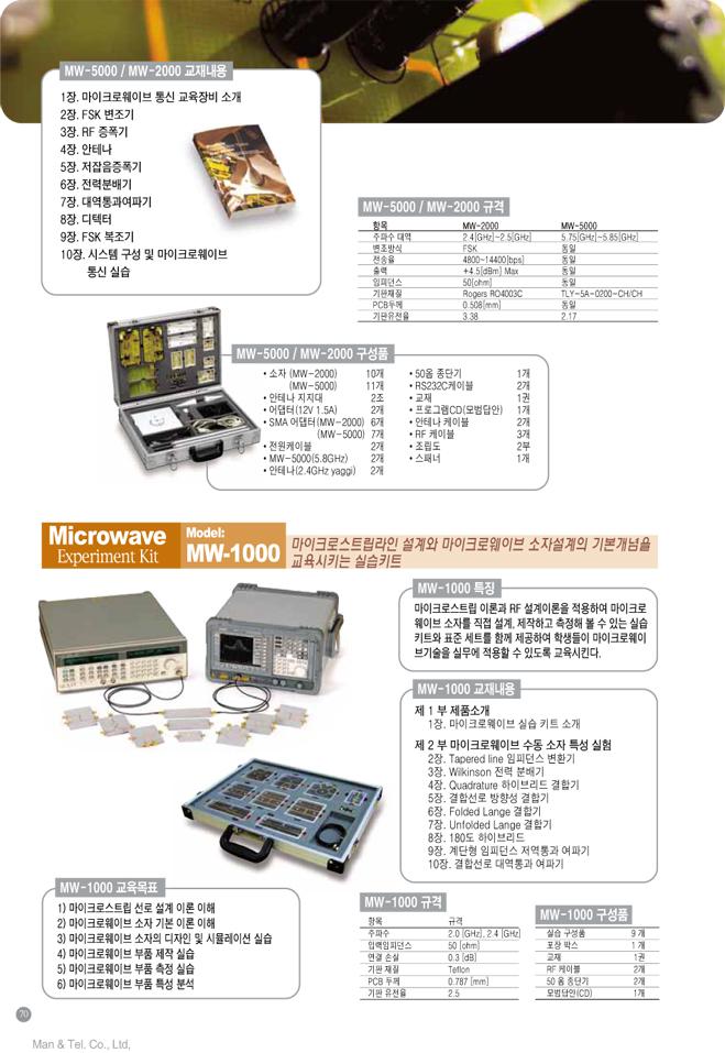 (주)맨엔텔 마이크로웨이브 통신실습장비  2
