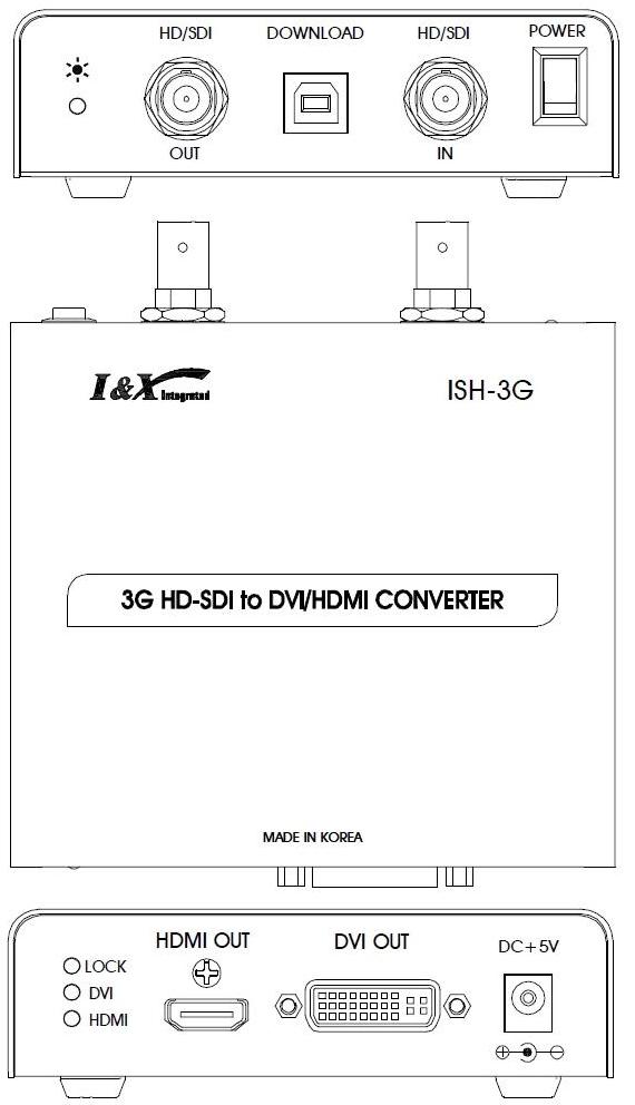 Master SDI&HD ↔ SDI Converter ISH-3G 1