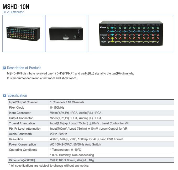 Master  MSHD-10N