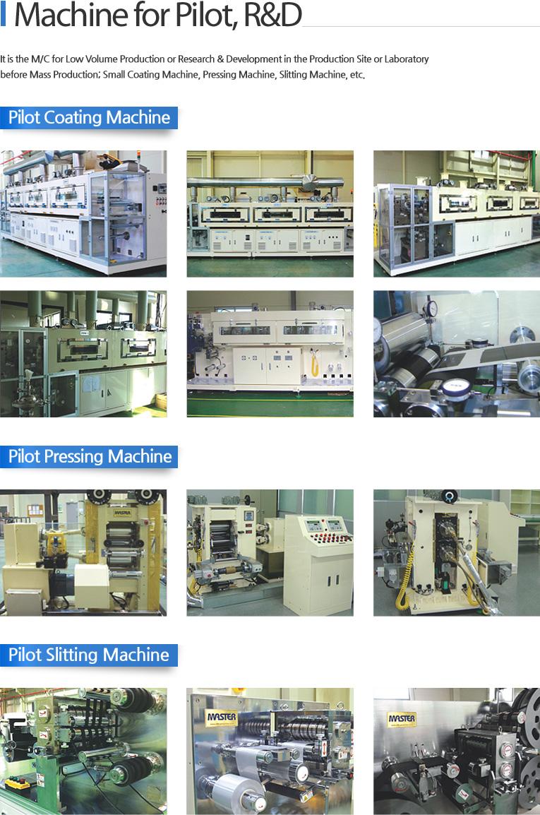 Mastermachine Machine for Pilot, R&D