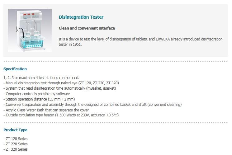 Mirae ST Disintegration Tester