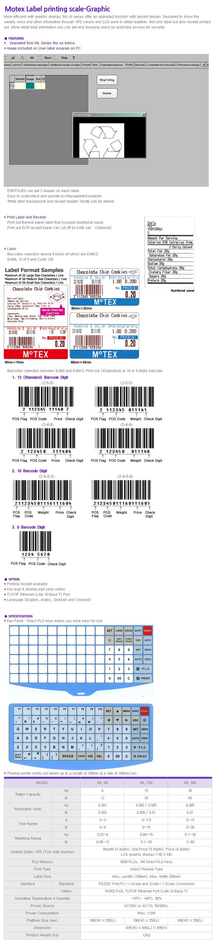 MOTEX Electronics Scale ML-G Series