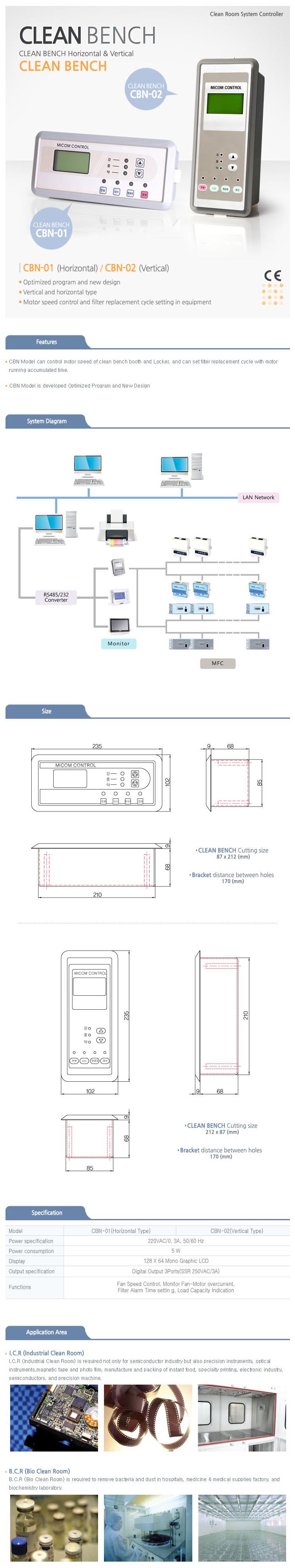 MST Clean Bench CBN-01 (Horizontal Type) / CBN-02 (Vertical Type)