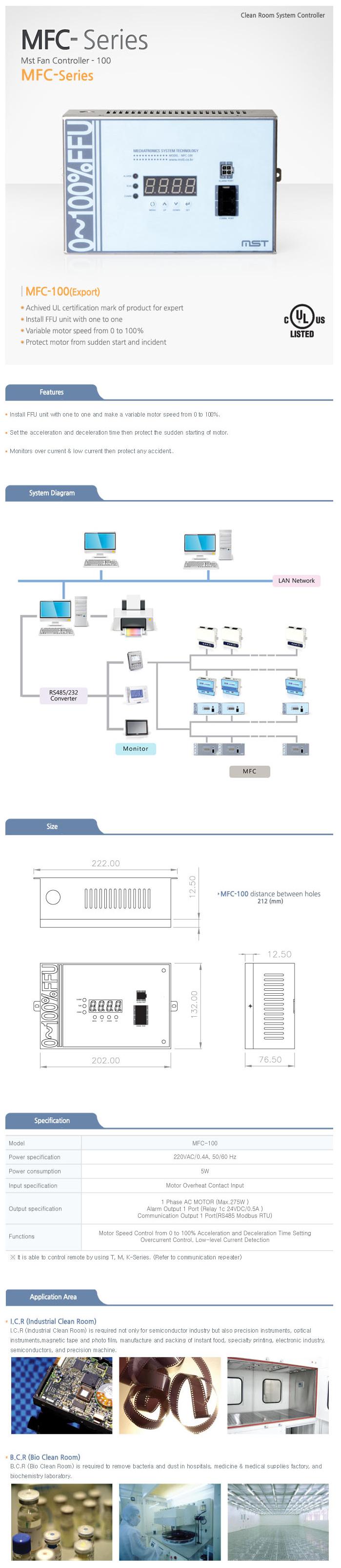 MST Fan Control 0~100% (UL Certificated) MFC-100