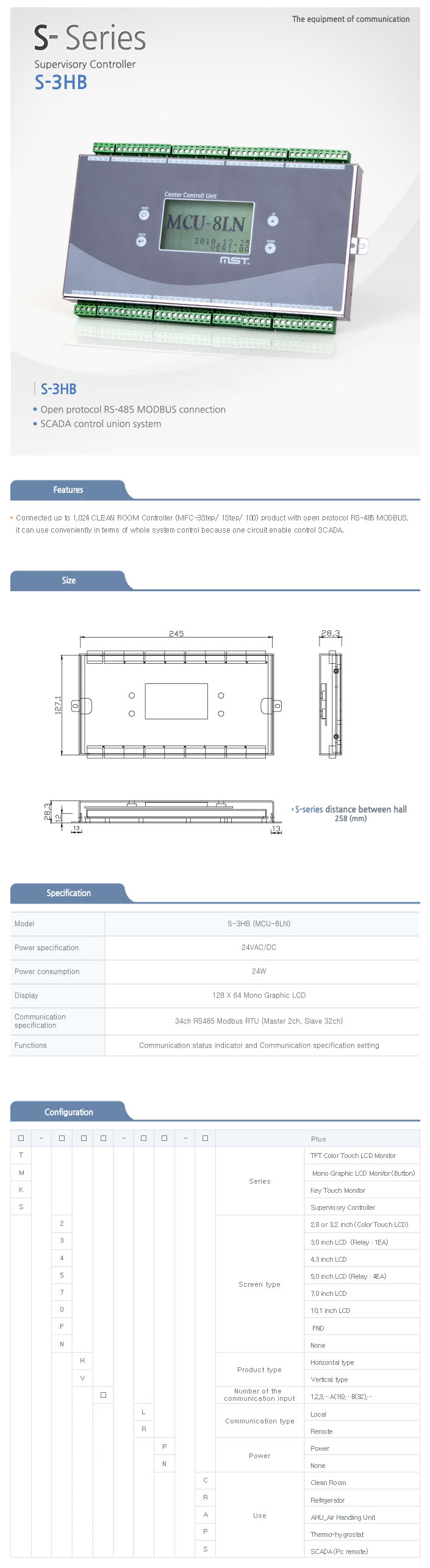 MST Supervisory Controller (S-3HB) S-Series (32port)