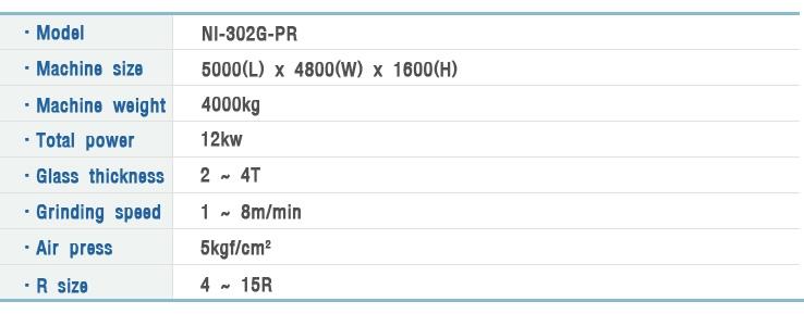 NAEIL ENG Automatic Corner(R) Grinding M/C NI-302G-PR