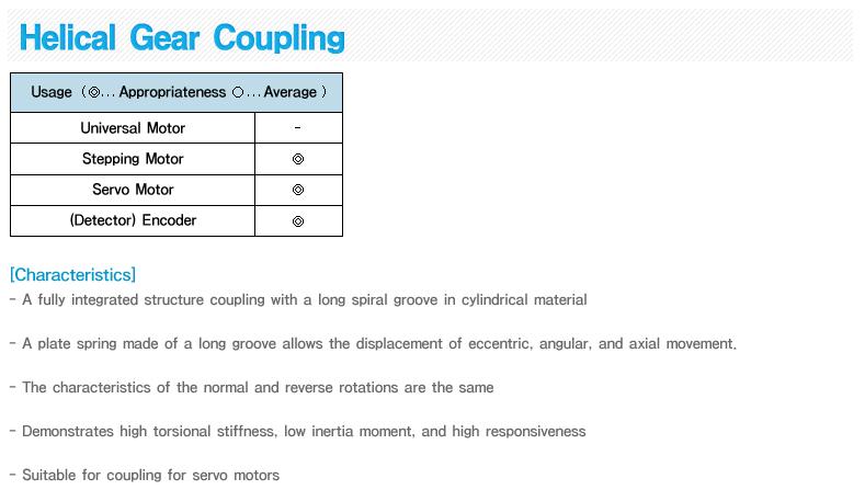 NARADRIVE Helical Gear Coupling SHC, SHC-C