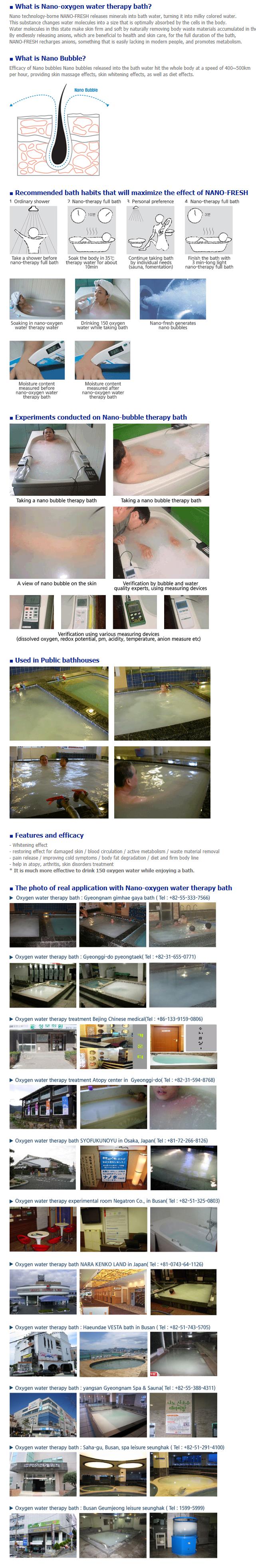 NEGATRON Nano-Oxygen water therapy bath