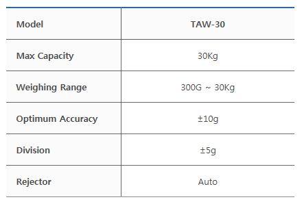 타이거자동포장기계(주) 중량검출기 TAW-30