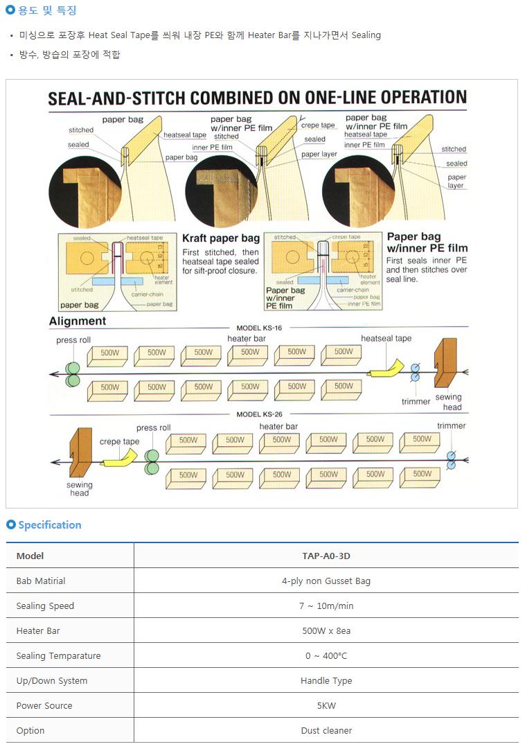 타이거자동포장기계(주) 히타실링기 TAP-A0-3D