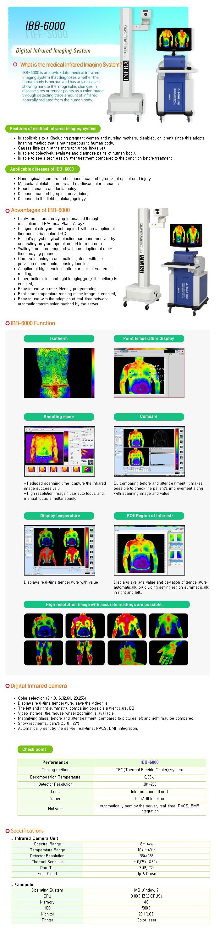 OSONG LIFE Digital Infrared Imaging System IBB-6000