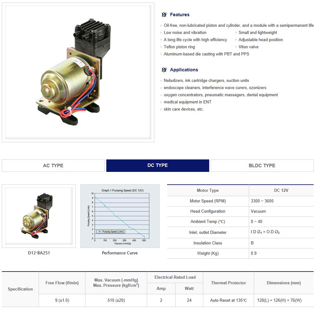 BHL Oil-less Air Pump  1