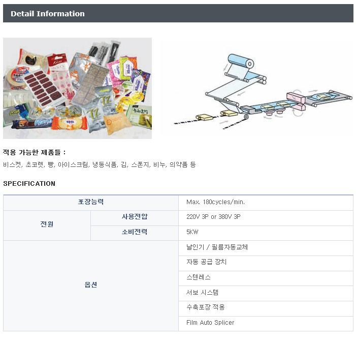 (주)을성정공 수평형 삼면자동포장기 ESRM-101 1