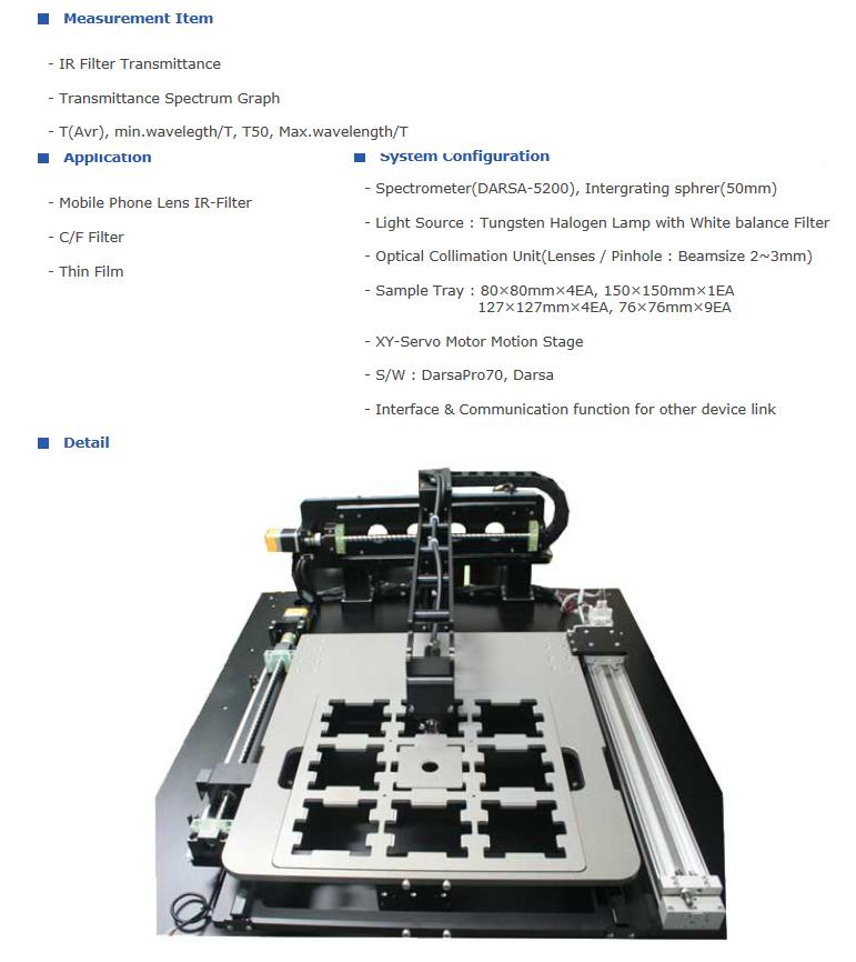 PSI Filter Auto Measurement