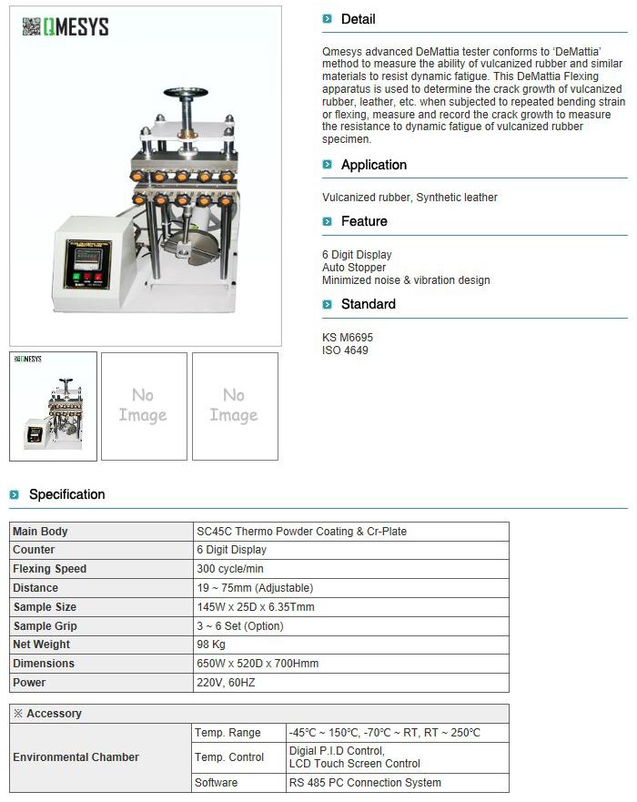 QMESYS DEMATTIA Flexing Tester QM650D