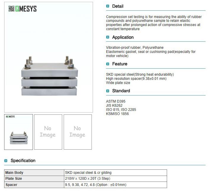 QMESYS Compression Set Tester QM380