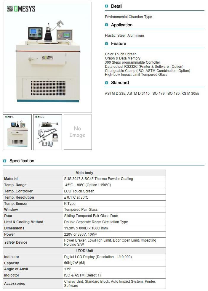 QMESYS Low. Temp Impact Tester QM700L