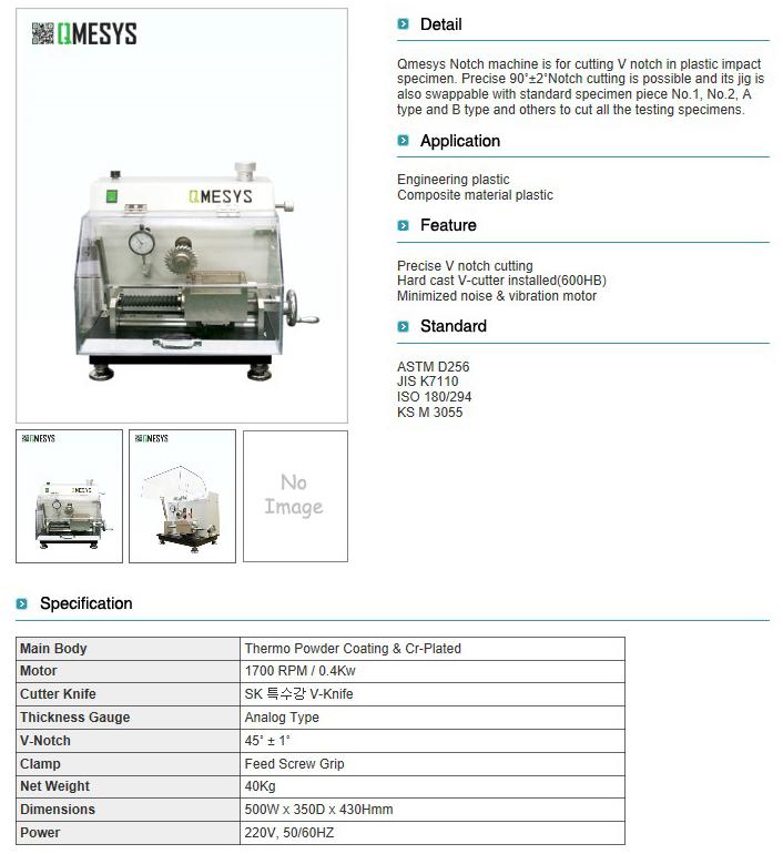 QMESYS Notch Machine QM700N