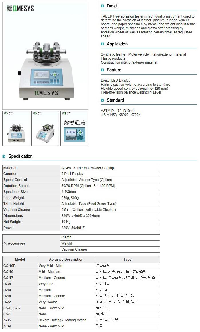 QMESYS TABER Type Abrasion Tester QM600T