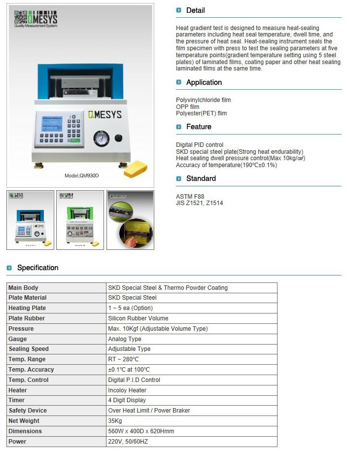 QMESYS Heat Gradient Tester QM930