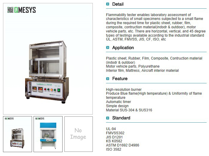 QMESYS Flammability Tester QM500H