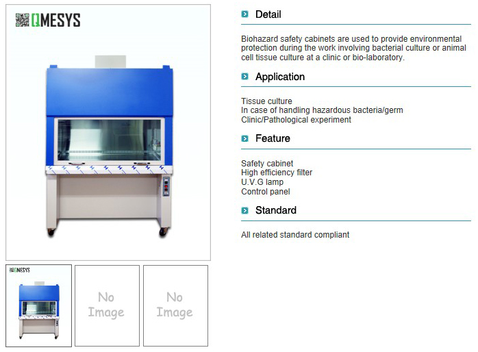 QMESYS Biohazard Safety Cabinet QM2100S