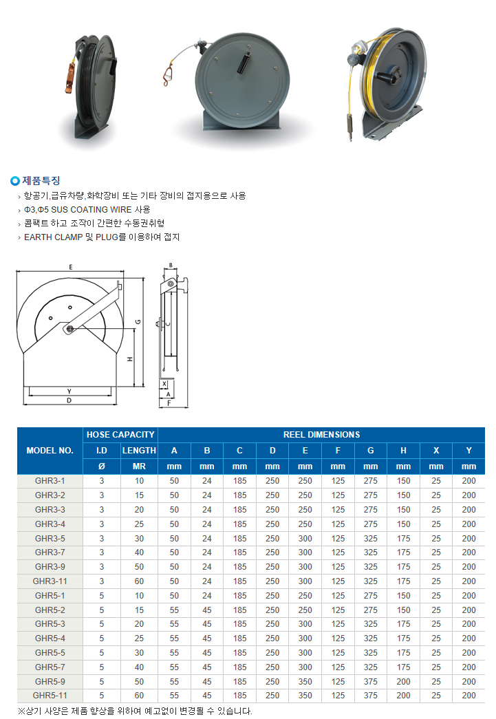(주)릴텍 수동 권취형 GHR-Series 1