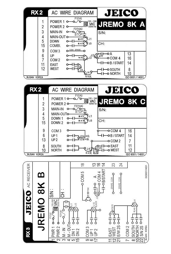 (주)제이코 산업용 무선리모콘 JREMO 8K 1