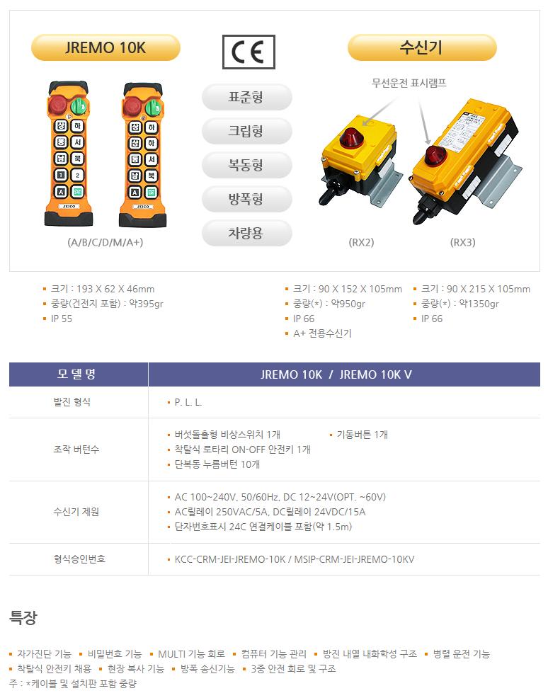 (주)제이코 산업용 무선리모콘 JREMO 10K