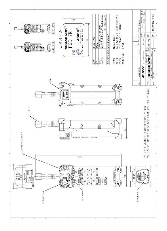 (주)제이코 산업용 무선리모콘 F25-7K 2