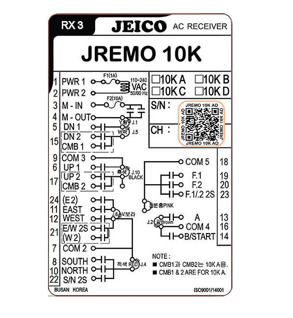 (주)제이코 폭발방지용 무선리모콘 JREMO 10EX 1