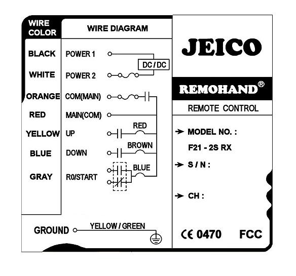 (주)제이코 산업용 무선리모콘 F21-2S 1