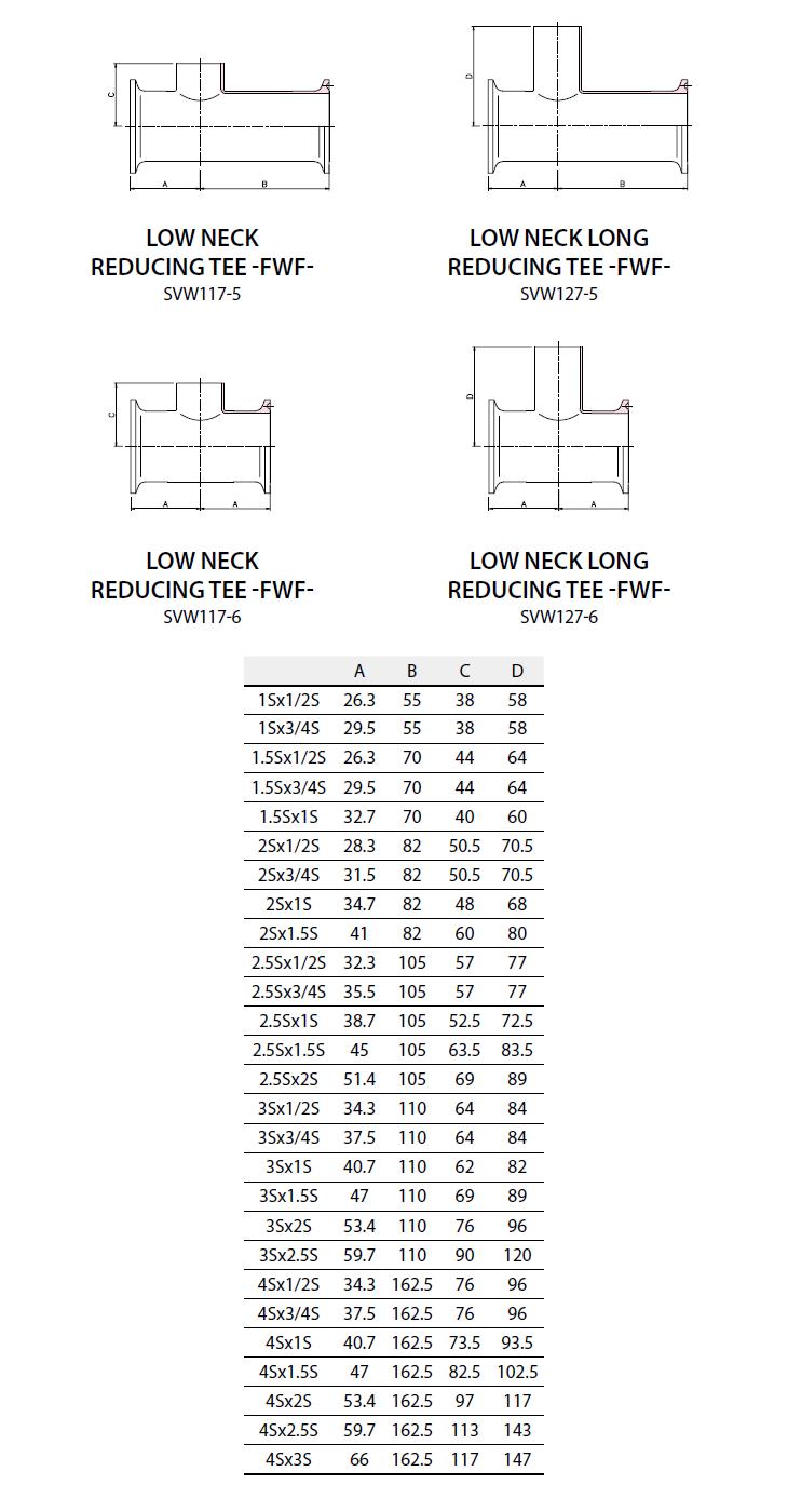 (주)에스밸브 Weld Fittings - Low Neck Reducing Tee -FWF- SVW117-5