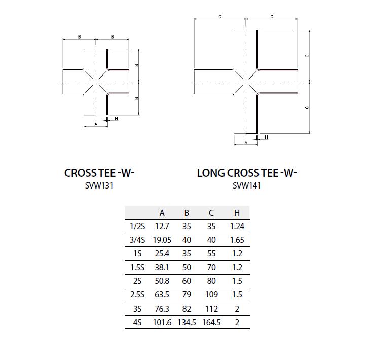 (주)에스밸브 Weld Fittings - Cross Tee SVW131