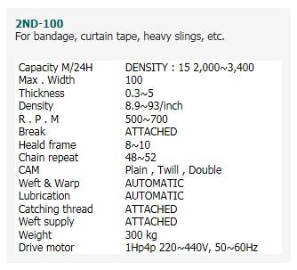 SAEHWA PRECISION MACHINE Needle Loom 2ND-100