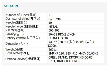 세화정밀기계 니트기 SD-410N 1