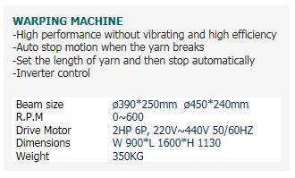 SAEHWA PRECISION MACHINE Warping Machine