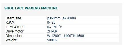 SAEHWA PRECISION MACHINE Shoe Lace Waxing Machine
