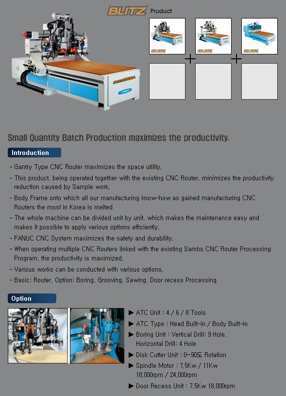 SAMHO MACHINE CNC Router (Gantry)