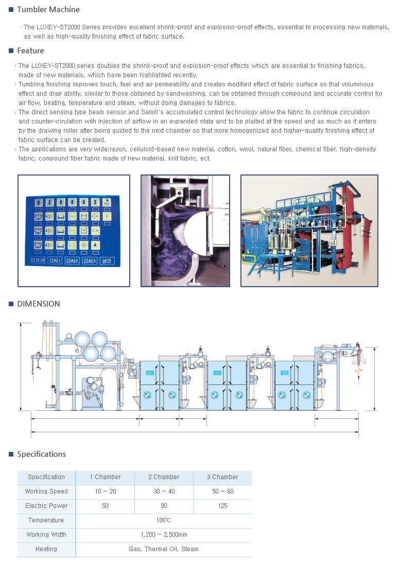 SAMIL MACHINERY Tumbler Machine LUXEY-ST2000 Series