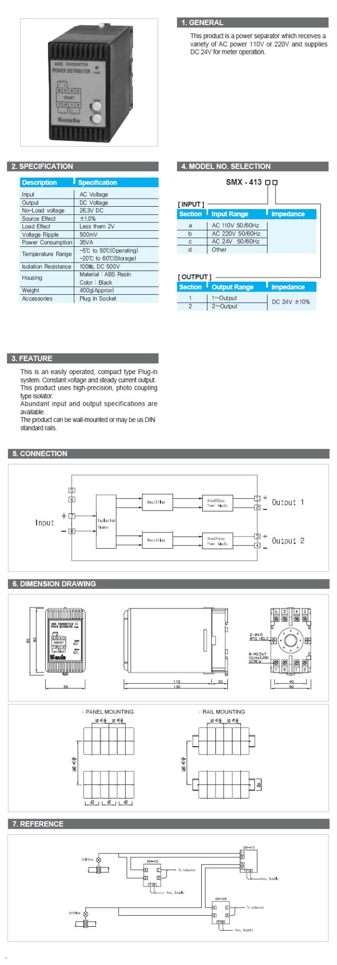 Samin Technology Power Distributor SMX-413