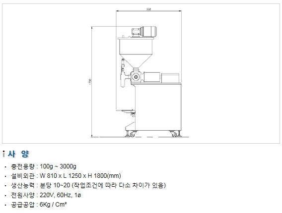 삼성포장기 고점도용 충전기 SP1000-(A) V 1