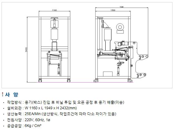 삼성포장기 비닐 자동 투입기 SP-L Series 1