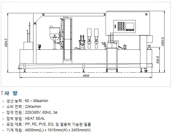 삼성포장기 유제품 자동 포장 설비 SP3000-F 1