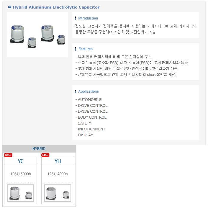 삼화전기(주) Hybrid Aluminum Electrolytic Capacitor