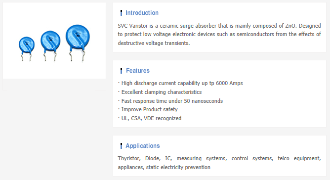 Samwha Electric Varistor