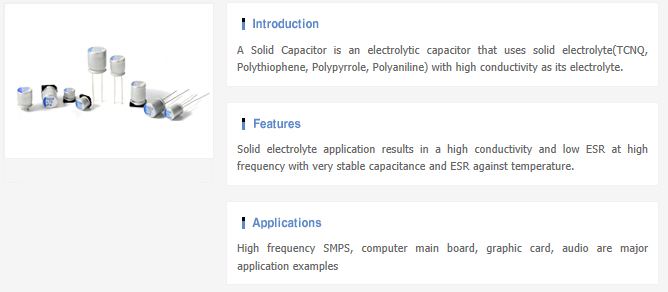 Samwha Electric Aluminum E-Cap